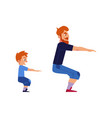 sport family concept with father and son doing vector image vector image