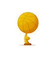 sports reward gold basketball ball prize trophy vector image
