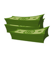 Stack of money on white background Lot of cash vector image