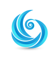 Swirly waves icon logo vector | Price: 1 Credit (USD $1)