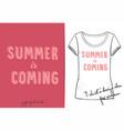 t shirt of cute pink cartoon vector image vector image