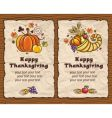 thanksgiving backgrounds vector image vector image