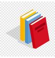 three books isometric icon vector image vector image