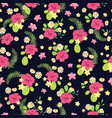 tropical flowers ditsy seamless pattern design vector image vector image