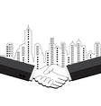 Two business men shaking hands vector image vector image