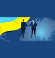 ukraine international partnership diplomacy vector image vector image