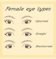 various female eye types vector image vector image