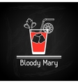 with glass of bloody mary for menu cover vector image