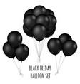 black friday flight rubber balloons bouquet vector image
