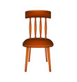 wooden chair in retro design vector image