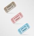 Colorful vintage ticket vector image