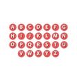 Flat icons alphabet set vector image