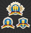 Octoberfest beer labels set vector image