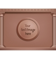 brown greek style background concept You vector image