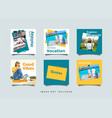 385 mentahtravel social media feed post promotion vector image vector image
