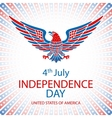 4th July Independence day and for Presidential vector image vector image