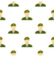army soldier pattern flat vector image vector image