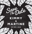 Black and White Save The Date Card Chalkboard vector image vector image