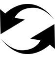 black arrows in circular motion arrow combinations vector image vector image