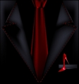 black suit and red shoe vector image