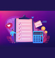budget planning concept vector image vector image