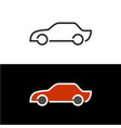 car icon line style side view vector image