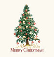 christmas and new year with xmas tree vector image