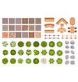 city park landscape design map elements top view vector image vector image
