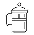 coffee press icon outline style vector image vector image