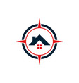 compass home estate residence house icon logo vector image vector image