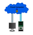 computer connect security cloud internet concept vector image