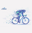 cycling race stylized backgrond with motion color vector image vector image