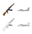 design of weapon and gun logo collection vector image