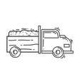 farming car icon hand drawn icon set outline vector image vector image
