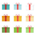 flat gifts set vector image