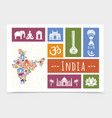 flat india travel composition vector image vector image