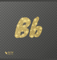 golden shiny letter b on a transparent background vector image