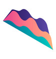 gradient graph chart icon isometric style vector image