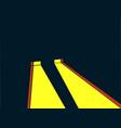 headlights retro style noir yellow ray of light vector image vector image