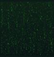 hex code background digital data stream in green vector image vector image