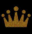 hexagon halftone crown icon vector image