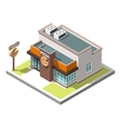 isometric icon infographic building vector image vector image