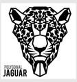 jaguar head in polygonal style polygonal animals vector image vector image