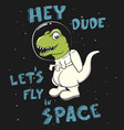 lets fly in space vector image