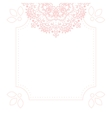 Light pink mandala card template background vector image vector image