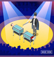 magic trick isometric background vector image vector image