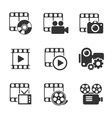 Media icon pack on white elements vector image vector image
