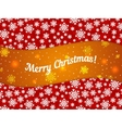 Merry Christmas theme banner witn snowflake vector image vector image