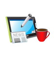 morning news vector image vector image