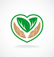 Nature care logo Grown with love sign vector image vector image